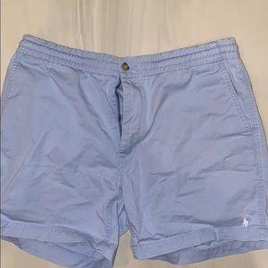 Light blue polo shorts